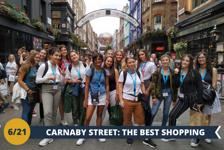 Un intero pomeriggio dedicato allo shopping, nelle vie più esclusive di Londra: Oxford street, Carnaby street e Regent's street!! (escursione di mezza giornata)
