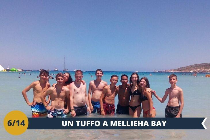 Mellieħa Bay, alla periferia del tipico villaggio maltese di Mellieħa. La sua spiaggia è lunga circa 800 metri e ha ottenuto da tempo la Bandiera Blu (escursione mezza giornata)