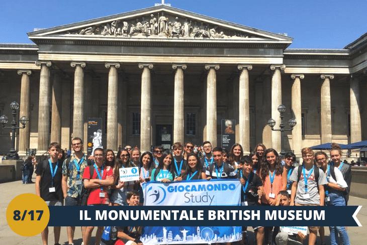 British Museum:uno dei più grandi ed importanti musei della storia del mondo, che si trova nella bellissima zona centrale di Bloomsburye a seguire la celebre foto al famosissimo binario 9 e ¾ della stazione di King's Cross(escursione mezza giornata)