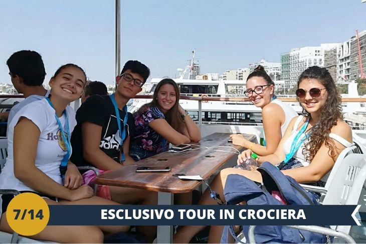 Una fantastica crociera dell'Harbour Cruise (INGRESSO INCLUSO) dove scopriremo antiche calette e spiagge incastonate di questa splendida Malta e del suo arcipelago. (escursione mezza giornata)
