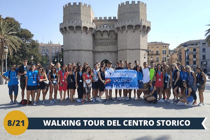 WALKING TOUR di Valencia, passeggiata per scoprire tutte le meraviglie della città vecchia e attraverso un tour guidato visiteremo la Torre Del Miguelete (INGRESSO INCLUSO), lo storico campanile della cattedrale di Valencia da dove potremo godere di una vista meravigliosa (escursione mezza giornata)