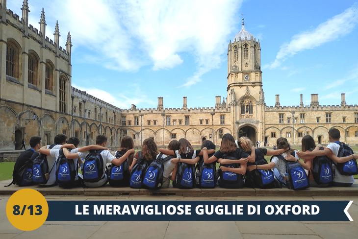 OXFORD - Walking tour guidato alla scoperta dell'elegantecentro di Oxford,con le sue guglie sognanti e i prestigiosi college di epoca medievale. Riusciremo anche a visitare la chiesa di St. Mary the Virgin, la più antica di Oxford(escursione di mezza giornata)