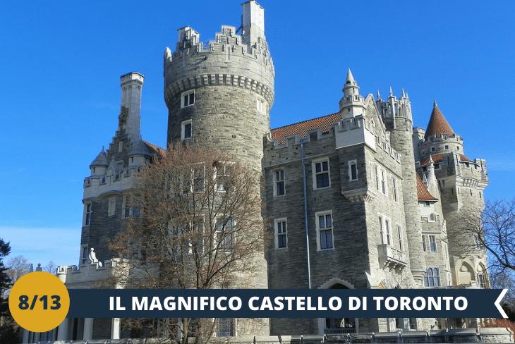 CASA LOMA (INGRESSO INCLUSO): conosciuta anche come il castello di Toronto, è il principale monumento storico della città appartenuto a Sir Henry Pellat, finanziere, uomo d'armi e industriale. Avrete modo di effettuare un tour completo di questo piccolo gioiello architettonico in stile gotico rinascimentale, con i suoi meravigliosi giardini estivi, aperti da marzo a ottobre, impreziositi da fontane e sculture, ed il museo ricco d'opere d'arte canadesi e del mondo. (escursione mezza giornata)