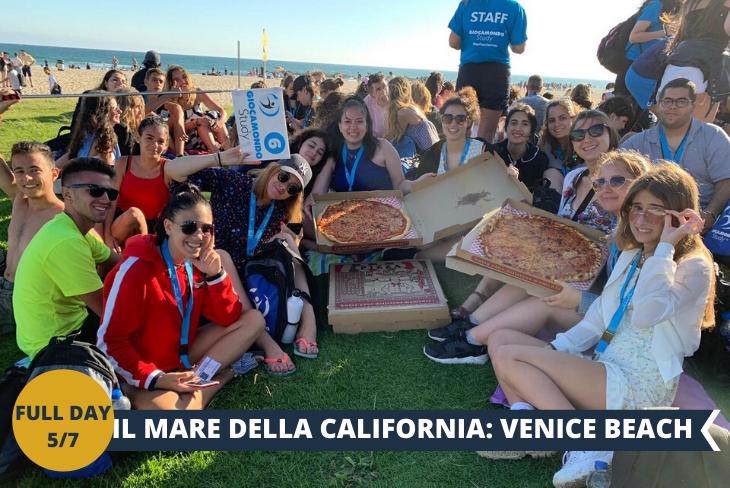 NEW! FULL DAY 5/7: VENICE BEACH: una tra le spiagge più amate dai ragazzi californiani, un bellissimo quartiere ispirato alla Venezia italiana, vivo, colorato e ricco di sorpresa!