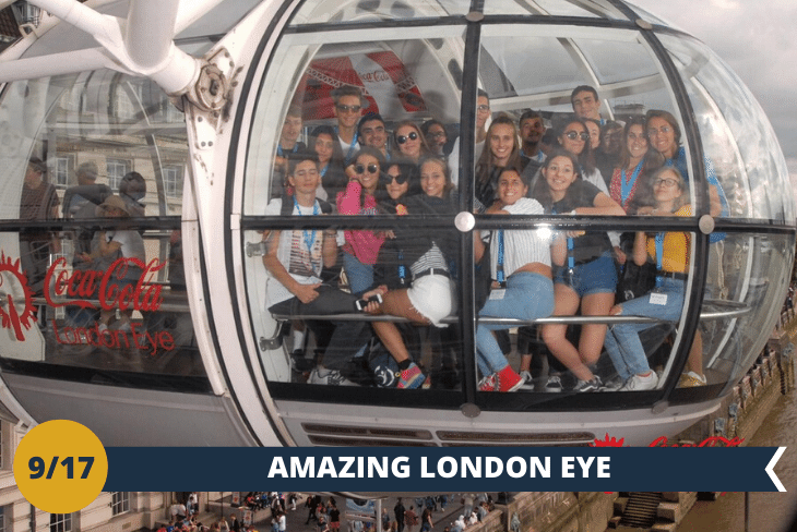 London Eye: Giocamondo Study vi porta sul tetto di Londra e vi farà salire sulla celebre ruota panoramica della Coca Cola (INGRESSO INCLUSO) e per finire, passeggiata lungo la zona di Southbank (escursione mezza giornata)