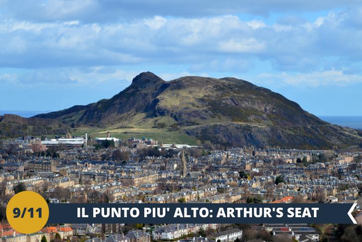 ARTHUR'S SEAT, il punto più alto della città situato al centro del parco reale di Edimburgo. L'estensione del parco è davvero impressionante e non c'è punto migliore dell'Arthur's seat per ammirarne tutto il selvaggio splendore… quella bellezza aspra, ruvida e incontaminata che è l'essenza stessa della Scozia e che vi travolgerà infiammandovi il cuore (escursione di mezza giornata)
