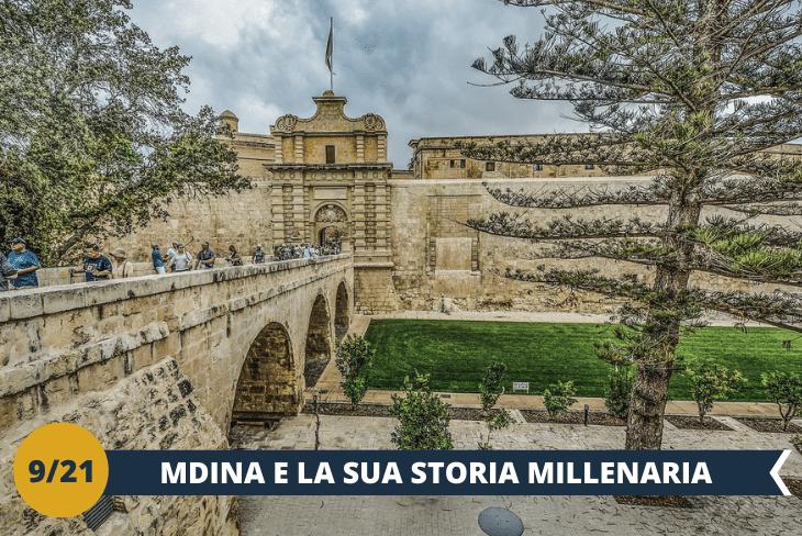 Visiteremo Mdina con le sue antiche mura di cinta saracene e palazzi normanni, antica capitale dell'Isola di Malta. La giornata terminerà con un imperdibile giro di pista, in completa sicurezza, a bordo di velocissimi Go Kart. (escursione mezza giornata)