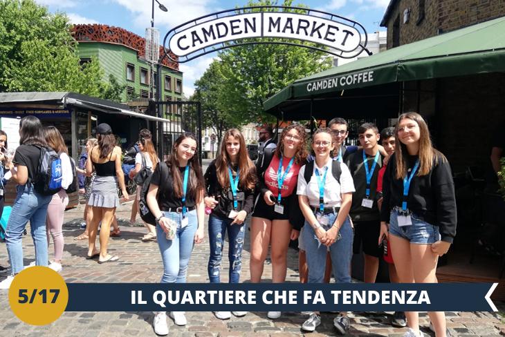 Camden Town: visita ad uno dei quartieri più iconici e stravaganti della città, a due passi dal campus, noto per i suoi mercatini tipici di cibo proveniente da ogni parte del mondo, accessori strani, vestiti di tendenza, marchi famosi (escursione mezza giornata)