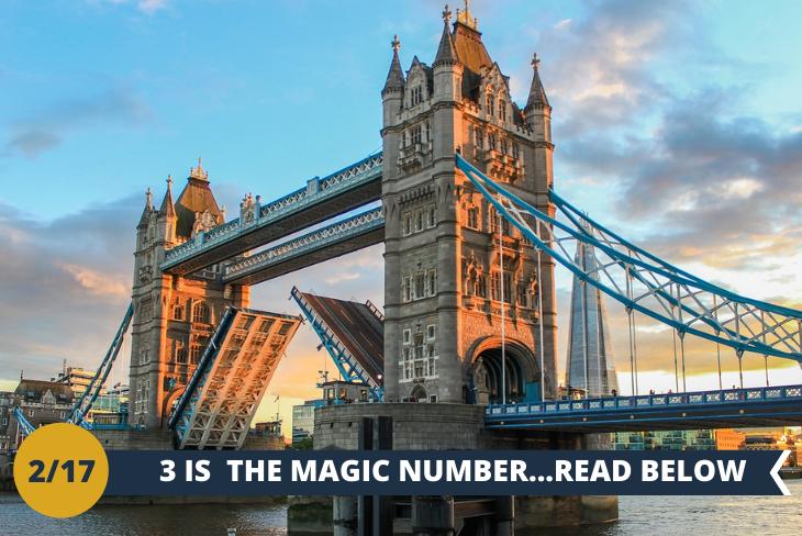 ESCURSIONE DI INTERA GIORNATA: un walking tour nella zona del famoso Tower Bridge (INGRESSO INCLUSO), che si apre in 90 secondi. Entreremo al suo interno per osservare i meccanismi che lo muovono e passeggiare sulla sua passerella di vetro per godere di una vista emozionante. Un'altra entusiasmante Novità: la visita alla Tower of London (INGRESSO INCLUSO). E per finire in bellezza.... entreremo e saliremo in alto sullo SHARD (INGRESSO INCLUSO), fino al 72° piano. Questo celebre grattacielo è stato costruito dall'italiano Renzo Piano, ed è la costruzione più alta di Londra! Siete pronti per una vista da brivido? SOLO CON GIOCAMONDO STUDY QUESTI INCREDIBILI INGRESSI INCLUSI!