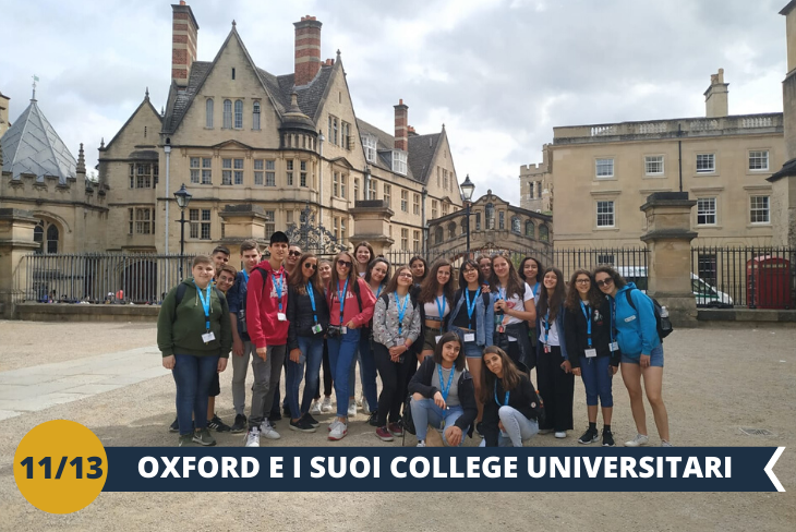 Un entusiasmante tour alla scoperta del fascino di Oxford. Visiteremo anche l'incantevole chiesa di St. Mary the Virgin, la più antica della città (escursione di mezza giornata)