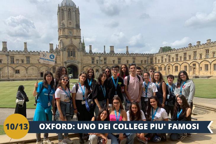 OXFORD + ENTRATA COLLEGE - Walking tour guidato alla scoperta dell'elegante centro di Oxford, con le sue guglie sognanti e i prestigiosi college di epoca medievale. Visiteremo anche l'incantevole chiesa di St. Mary the Virgin, la più antica della città (escursione di mezza giornata)