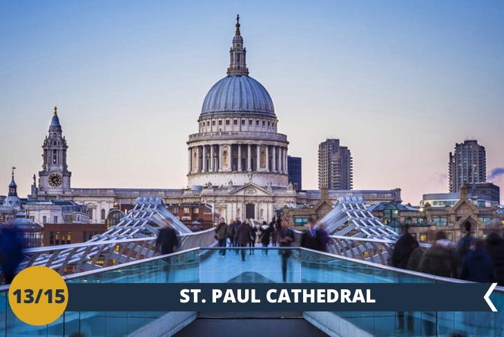 CATTEDRALE DI SAN PAOLO (INGRESSO INCLUSO) è una delle due cattedrali anglicane di Londra, l'imponente edificio è considerato un capolavoro dell'architetto Christopher Wren. È il primo edificio religioso per dimensione in Gran Bretagna. (escursione di mezza giornata)