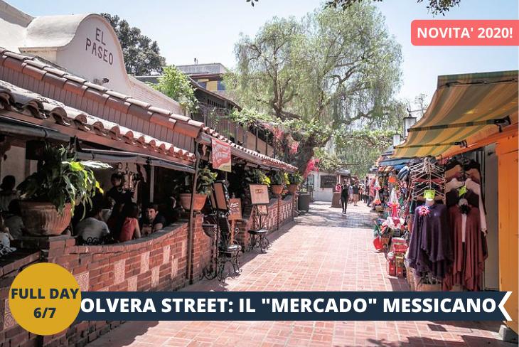 OLVERA STREET: con i suoi stretti passaggi e gli edifici del XIX secolo che ospitano ristoranti tradizionali e negozi di arte popolare, Olvera Street evoca sicuramente l'atmosfera romantica di un autentico mercado, il tipico mercato messicano. I mariachi suonano le loro chitarre, mentre l'aroma delle tortillas preparate al momento e dei churros caldi si diffonde nell'aria.
