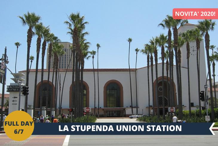 LA UNION STATION: E' la stazione dei treni della zona di Downtown di Los Angeles, bellissima nella sua architettura retrò dove ancora esistono sedili in pelle marroni e la volta cassettonata in legno. L'atmosfera è quella tipica di un film anni 50! Per concludere il tour, un passaggio nel quartiere di CHINATOWN. Inoltre la CATTEDRALE di LOS ANGELES: questa cattedrale romano cattolica post-moderna, completata nel 2002, è un'attrazione imperdibile se vi trovate a Los Angeles. Crea un impressionante contrasto con le chiese e le cattedrali classiche e attira l'attenzione per la sua imponenza.