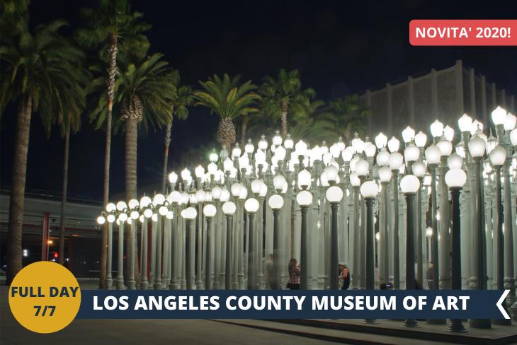 LACMA (INGRESSO INCLUSO): Situato sulla costa del Pacifico, LACMA, Los Angeles County Museum of Art, è il più grande museo degli Stati Uniti occidentali, con una collezione di oltre 142.000 oggetti che illustrano 6000 anni di espressione artistica in tutto il mondo