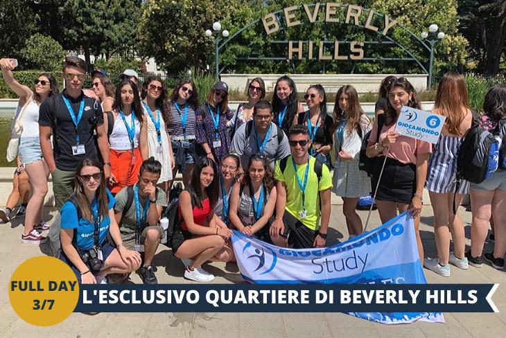BEVERLY HILLS: un quartiere stupendo, con le celebri e lussuosissime ville, set della famosa serie Beverly Hills 90210, girata proprio qui.