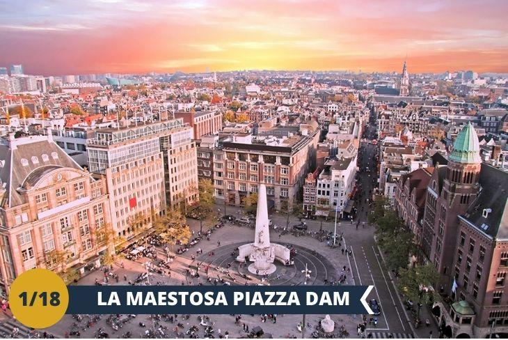 CITY CENTRAL WALKING TOUR Il primo walking tour non si scorda mai e quale occasione migliore per iniziare direttamente dal cuore della città. Passeggerete lungo il DAMRAK, il canale che con le sue iconiche abitazioni dalle facciate colorate vi porterà alla famosa PIAZZA DAM. Luogo storico di rivoluzioni e mercati, è una piazza dove tuttora ruota la vita cittadina di Amsterdam e su cui si affaccia il maestoso PALAZZO REALE. Il tour proseguirà esplorando le rive del canale SINGEL ED HERENGRACHT, dove troverete uno speciale museo, il BRILMUSEUM: Il Museo degli Occhiali. Una straordinaria panoramica di oltre cento anni di storia, moda e design degli occhiali!. Un pomeriggio divertente alla scoperta del cuore di Amsterdam! (escursione di mezza giornata)