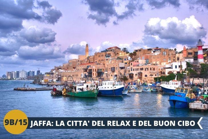 JAFFA, l'antico porto di Israele sul Mediterraneo. Dalla sua collina possiamo godere di una vista mozzafiato sullo skyline cittadino.