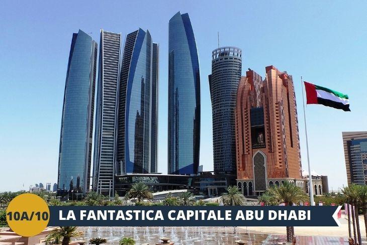 ESCURSIONE DI INTERA GIORNATA ad ABU DHABI: capitale degli Emirati Arabi Uniti, Abu Dhabi è il centro politico ed industriale del paese, una metropoli che affascina per la coesistenza di tradizione e modernità, dei ritmi lenti del deserto e della frenesia della metropoli, dei panorami millenari e degli edifici ultra moderni e lussuosi che svettano verso il cielo, sfidando ogni legge della fisica conosciuta. Visiteremo in questo tour il museo LOUVRE, l' Abu Dhabi Memorial, e osserveremo il tramonto dalla MOSCHEA DELLO Sceicco Zayed,  il luogo di culto più importante di tutto il paese!
