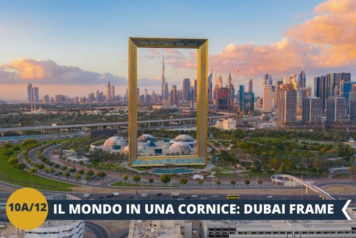 La Dubai Frame è una delle attrazioni più famose in città. Alta 150 metri, larga 93 e con un ponte che collega le due torri, la struttura della Dubai Frame è unica nel suo genere. Simile alla cornice di un quadro, in direzione nord permette la vista sulla parte storica di Dubai, mentre in direzione sud offre uno squarcio mozzafiato sullo skyline della città moderna.   Da non perdere! Per finire un po' di shopping al Mall of the Emirates (Escursione di mezza giornata) E' stato il primo grande mall ad aprire a Dubai. E' immenso, architettonicamente grandioso, con tanta luce naturale che illumina i grandi viali interni. I negozi sono centinaia ma sono le sue attrazioni ad attirare i visitatori, Ski Dubai e Magic Planet su tutte. E' il preferito da molti, residenti e turisti.