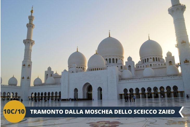 Indimenticabile tramonto dalla MOSCHEA DELLO Sceicco Zayed