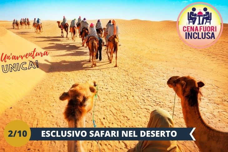 Accanto alla Dubai più urbanizzata, quella con edifici da record e avvezza al lusso sfrenato, c'è la Dubai più autentica e incontaminata, quella che ci propone un paesaggio naturalistico da lasciar senza parole. Vi porteremo nel deserto per un SAFARI unico + cammelli +henna painting+dune bashing + cena inclusa (Escursione di mezza giornata)