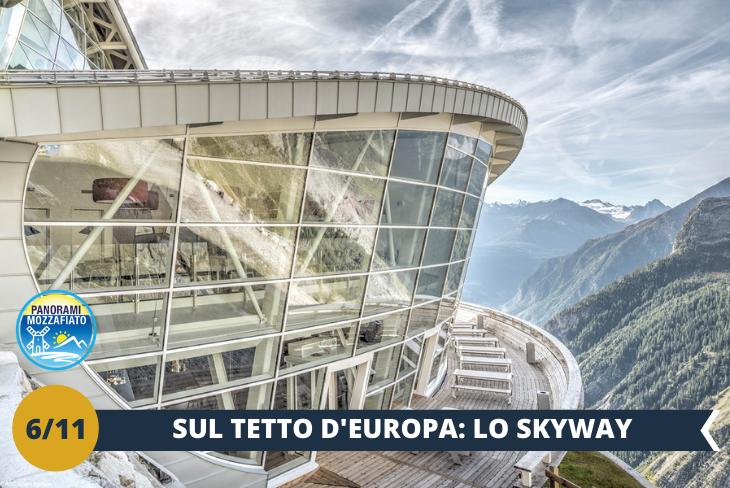Courmayeur + Funivia sul Monte Bianco -  Passeggeremo tra le meravigliose vie del centro di Courmayeur, rinomata meta della Val d'Aosta che sorge ai piedi del Monte Bianco, il quale è il protagonista indiscusso di tutto il soggiorno. Per terminare in bellezza la nostra visita, saliremo a bordo della Skyway del Monte Bianco (ingresso incluso), la linea composta da 3 funivie che collega il paese di Courmayeur alla punta Helbronner (3500 mt): sarà un viaggio imperdibile ed eccitante, tra nuvole e ghiacciai, in mezzo alle più alte vette d'Europa! (ESCURSIONE MEZZA GIORNATA)