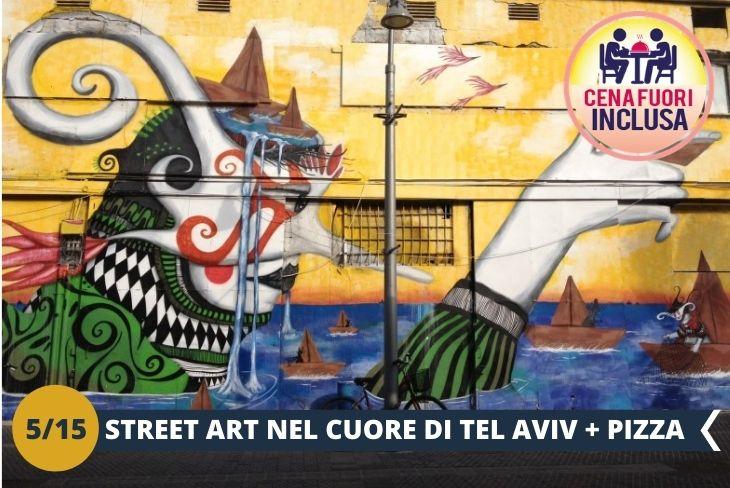 GRAFFITI TOUR: un pomeriggio nella zona di Florentin, quartiere situato nella parte meridionale di Tel Aviv, alternativo e ricco di graffiti  + PIZZA e FALAFEL (escursione di mezza giornata)