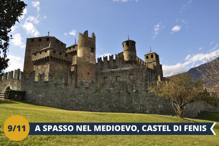 Castello di Fènis - Un pomeriggio alla volta del piccolo borgo di Fènis, dove si erge il suo celebre castello. Situato in una posizione insolita poichè privo di difese naturali, ovvero tra i prati anziché su di un poggio roccioso, il Castello di Fenis (ingresso incluso) è il gioiello medievale per eccellenza. Grazie al suo perfetto stato di conservazione potremo ammirarne la sua straordinaria architettura.(ESCURSIONE MEZZA GIORNATA)