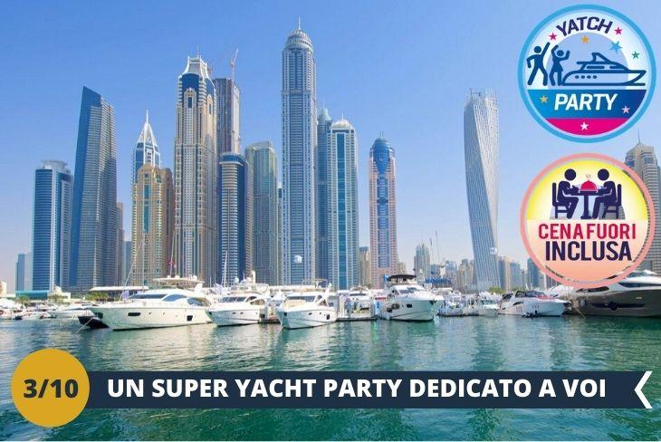 """Dopo uno stop al famoso BAZAR ARABO """"the Souk Madinat Jumeirah"""" per godere di una vista strepitosa del Burj Khalifa, inizierà un divertentissimo yacht party con cena inclusa e tanto divertimento! (Escursione di mezza giornata)"""