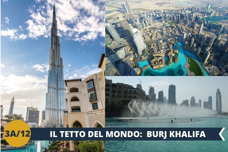 La Torre di Khalifa, meglio nota come Burj Khalifa, è il grattacielo di Dubai che non teme rivali in quanto ad altezza, essendo in assoluto la costruzione artificiale più alta del mondo. Con i suoi 828 metri è davvero una celebrità internazionale. Oltre alla torre visiteremo l'ACQUARIO di Dubai,  le FAMOSISSIME FONTANE e poi faremo un po' di shopping al DUBAI MALL, il centro commerciale più grande al mondo con ben 1200 negozi, 2 enormi grandi magazzini, 160 tra food and beverage outlets. Occupa un'area pari a quella di 50 campi da calcio. Dal numero di negozi si comprende che qui puoi trovare qualsiasi cosa: non solo moda ma anche libri, computer, orologi, cosmetici, giocattoli. La giornata si concluderà con una cena al Dubai Mall. (Escursione di mezza giornata)