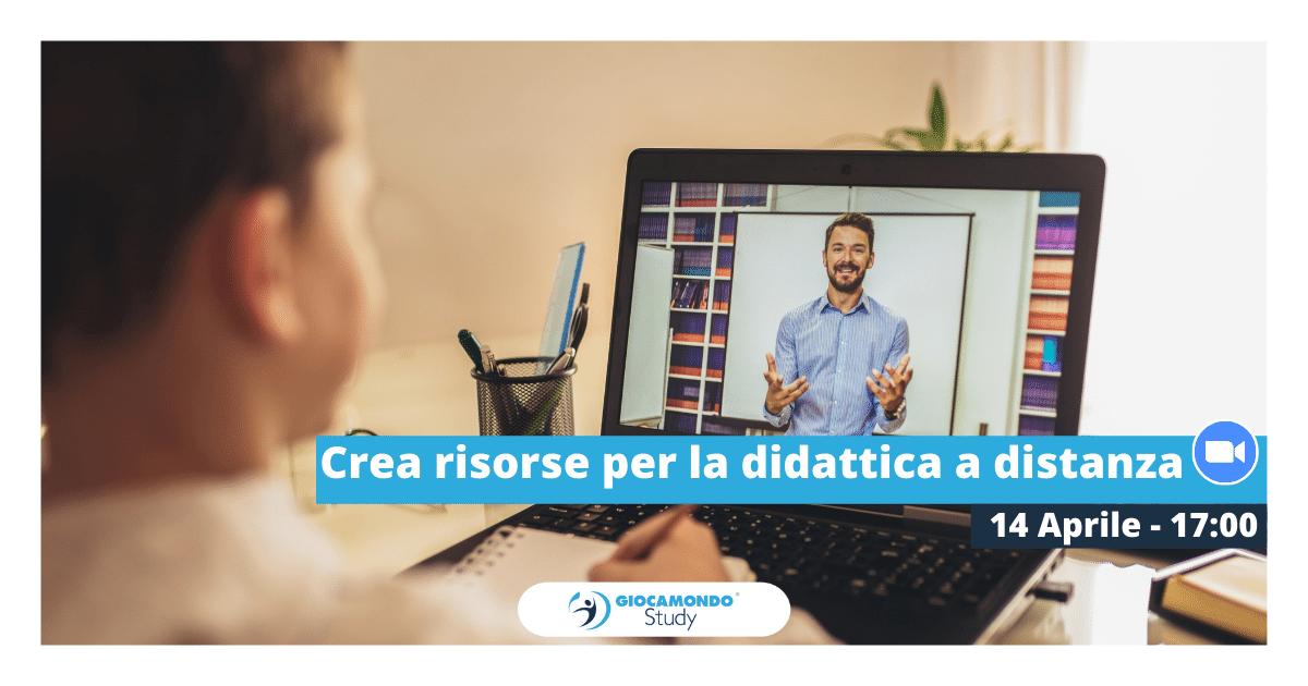 Crea risorse per la didattica a distanza   Iscriviti all'evento > - Giocamondo Study-Grafiche-blog-DEM